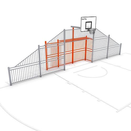 Voet- en basketbal wand L