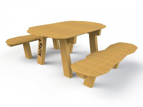 Kinderpicknicktafel met losse banken