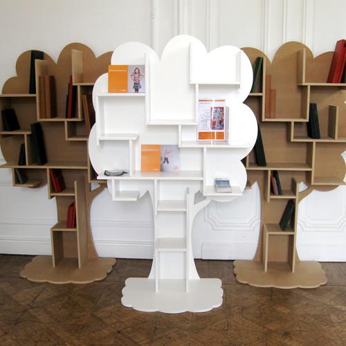 boekenkast boom louane ongekleurd