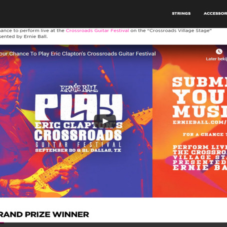 Lone wolves reached at top 25 competing against 731 groups on the Eric Clapton - Ernie Ball contest.