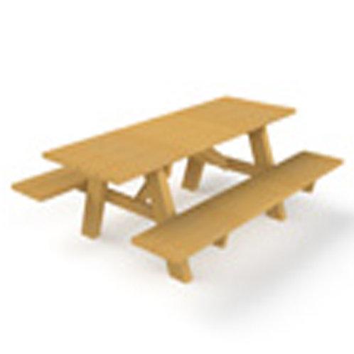 Kinderpicknicktafel met 2 zitbanken