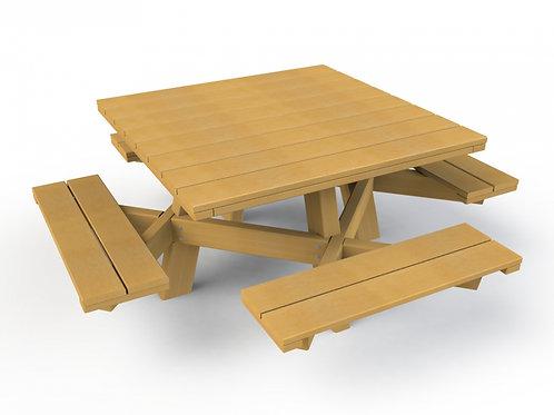 Kinderpicknicktafel met 4 zitbanken