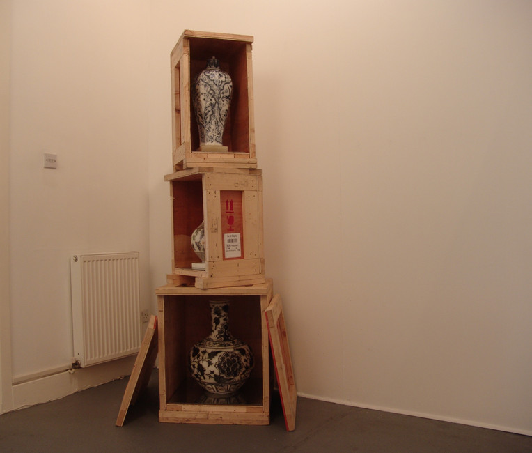 Installation view, On Cover up