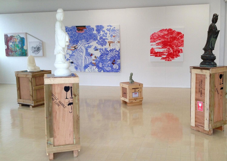 Installation view, Rain Dosen't Fall for Nothing, Kingston College Art&Design