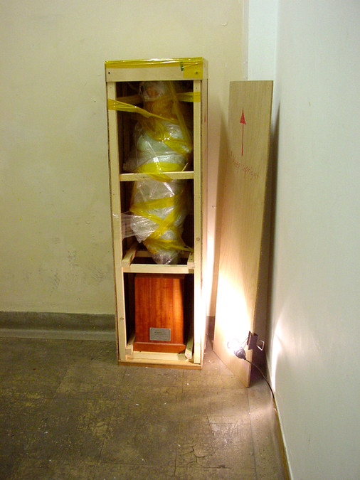 Installation view, Moving Project, Woburn Square, Slade School