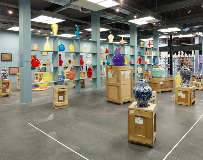 Installation view, Meekyoung Shin's Cabinet of Curiosities, The National Centre for Craft and Design