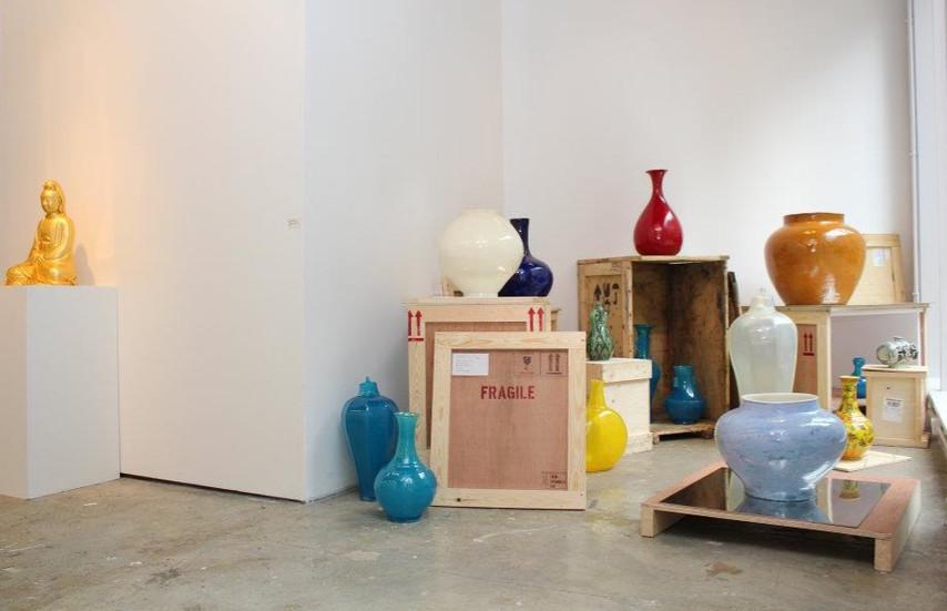 Installation view, Nylon, Korean Cultural Centre UK
