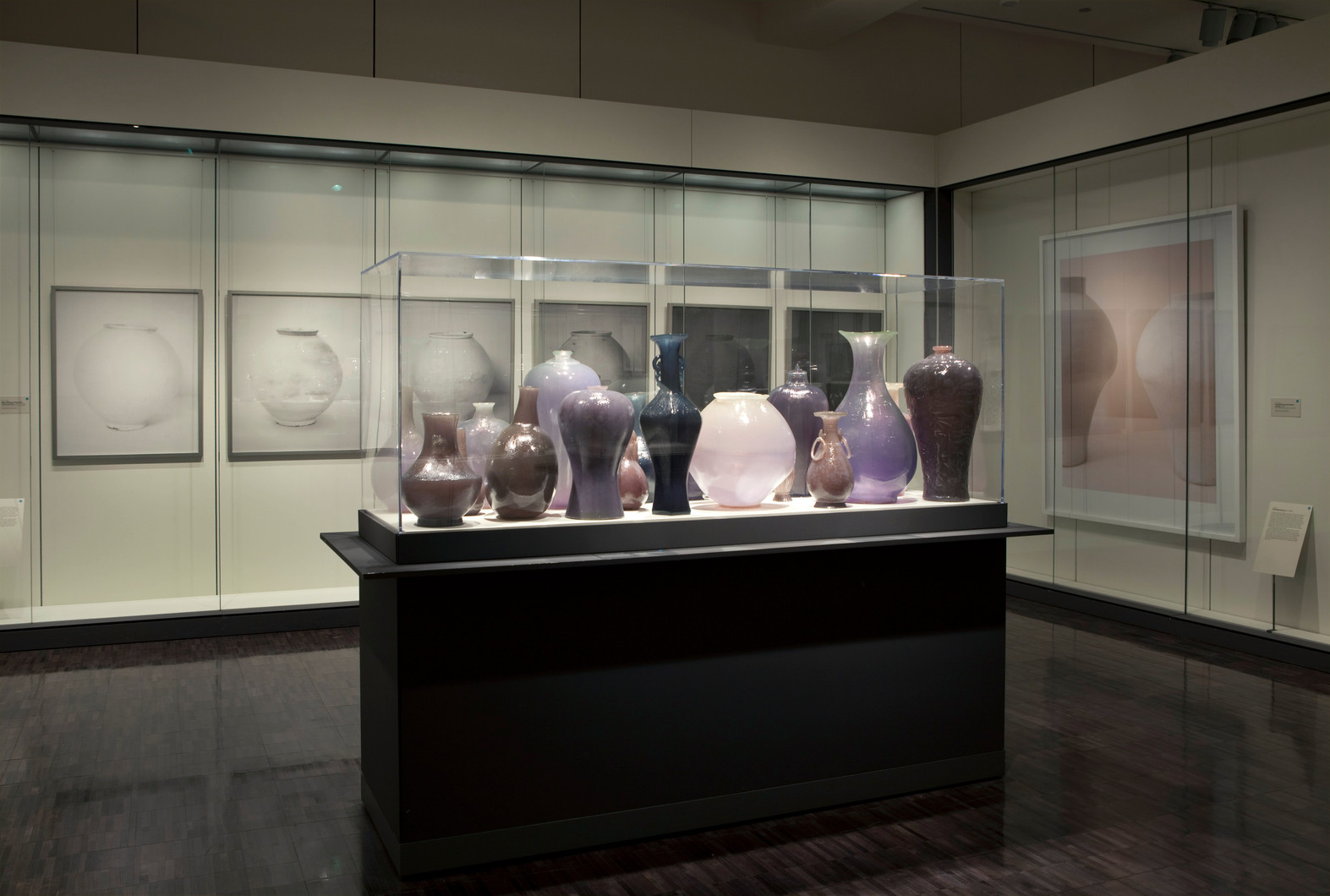 Installation view, Poetry of in Clay: Korean Buncheong Ceramics from Leeum, Asian Art Museum of San Francisco