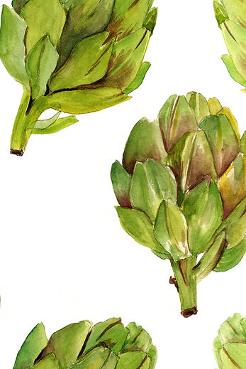 Watercolor Artichoke Print