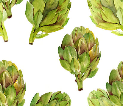Watercolor Artichoke Print