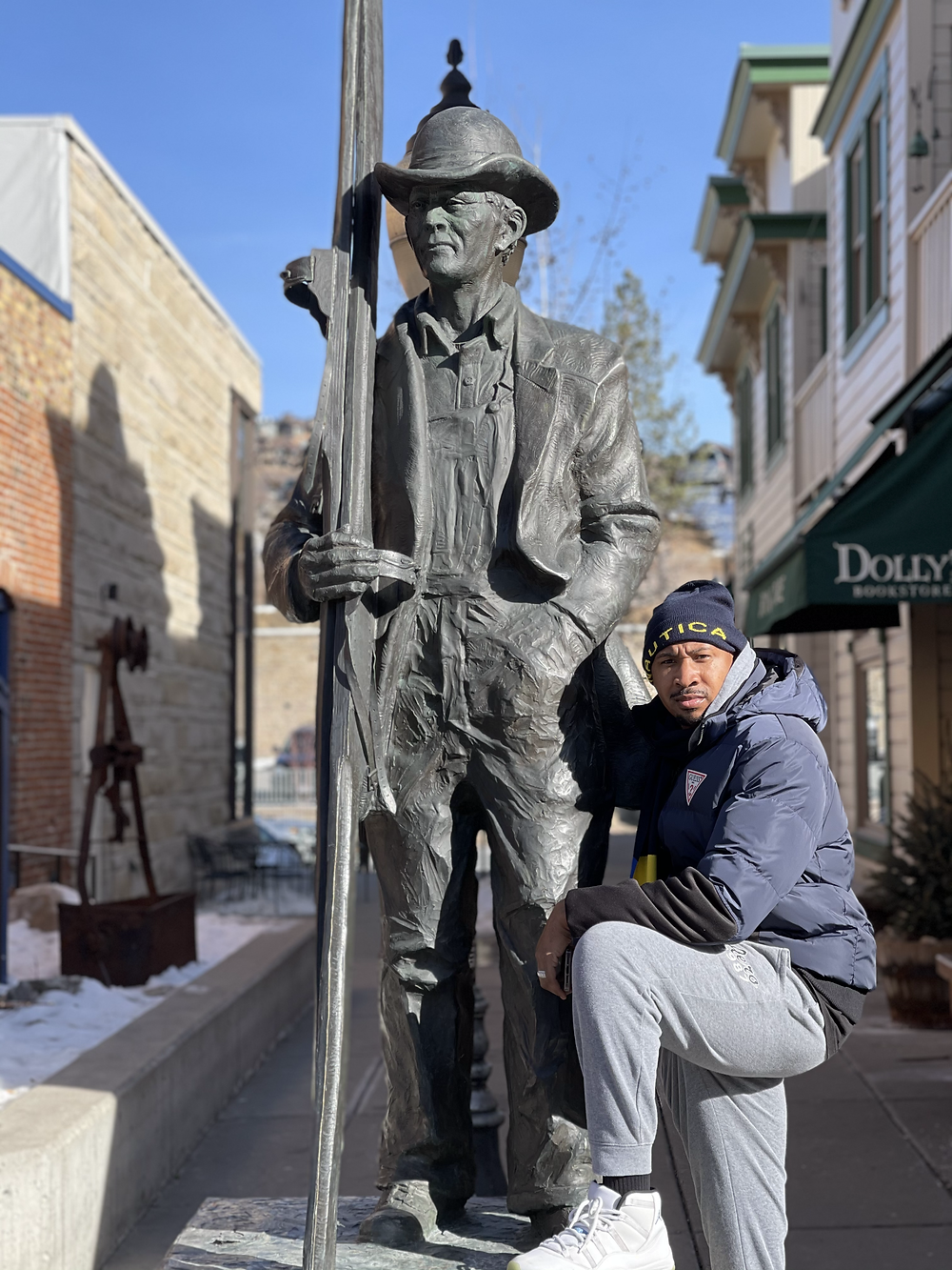 In front of Park City Museum & Dolly's Bookstore