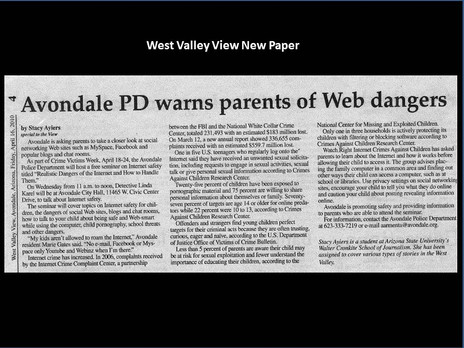 Avondale PD warns parents of Web dangers