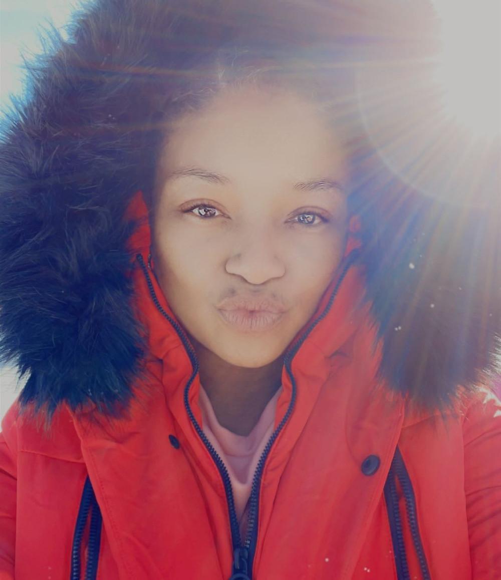 At Ski Resort Feeling Beautiful