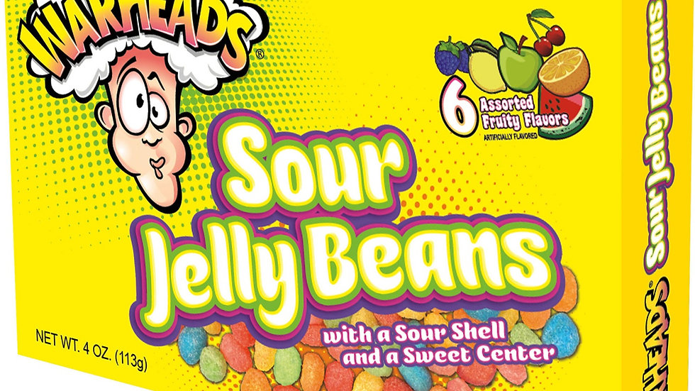 Warheads Sour Jelly Beans 4oz Theater Box