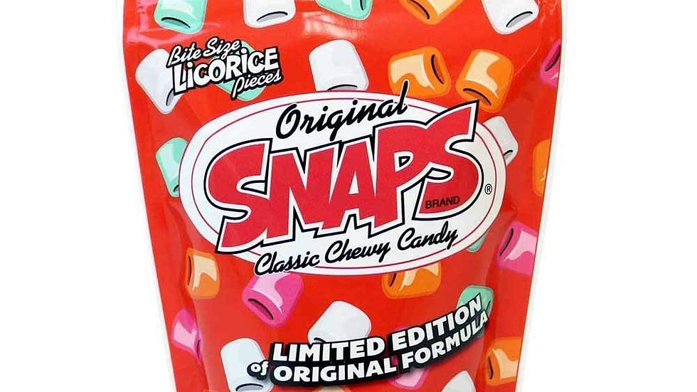 Snaps Original Classic Chewy Licorice Candy 12oz Bag