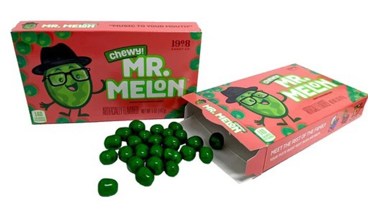 Mr. Melon Chewy Watermelon Candy 5 oz Theater Box