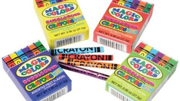 Magic Colors Bubblegum Crayons (One box)