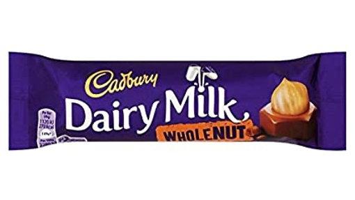 Cadbury Dairy Milk Whole Nut Chocolate Bar