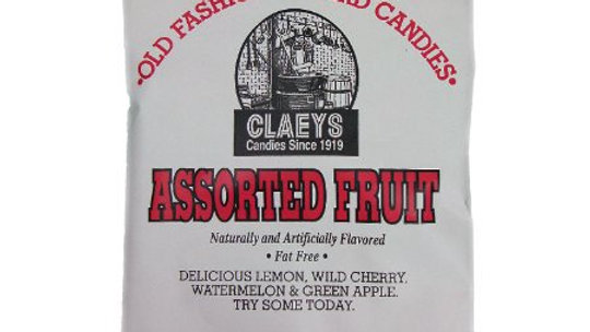 Claeys Assorted Fruit Old Fashioned Hard Candy 6oz Bag