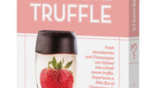 Dark Chocolate Strawberry Champagne Truffle Bar