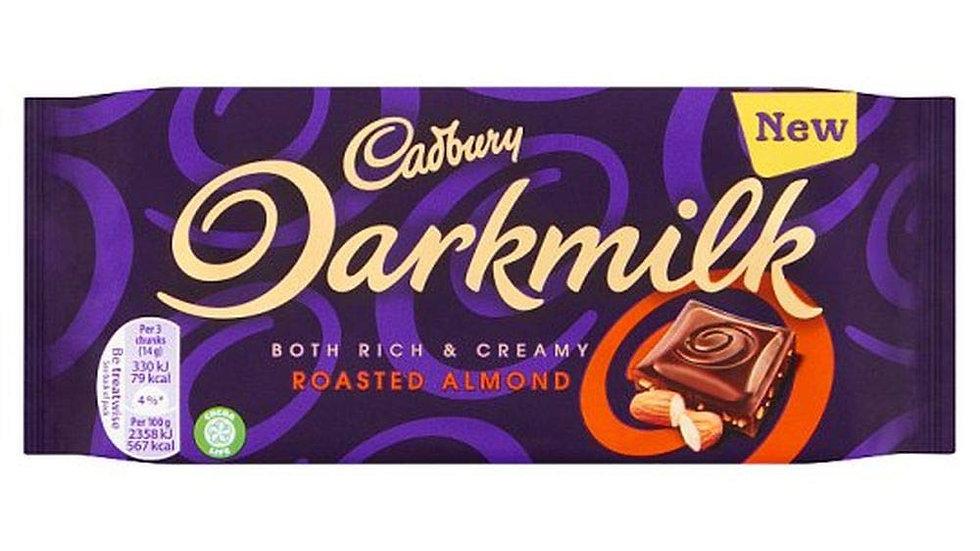 Cadbury Darkmilk Roasted Almond Chocolate Bar