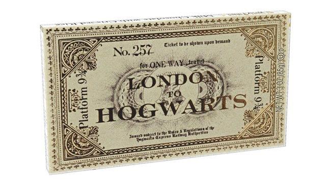 Harry Potter™ Platform 9 3/4 Ticket To Hogwarts Chocolate Bar - 1.5 oz