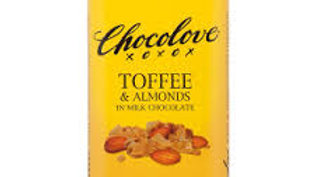 Chocolove Toffe and Almonds in Milk Chocolate 3.2 oz bar