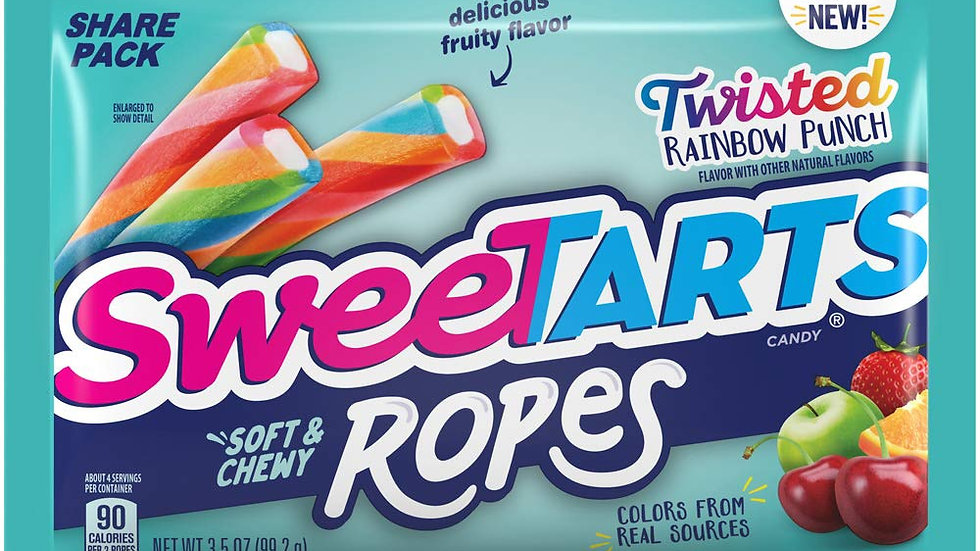 Sweetarts Ropes Twisted Rainbow Punch Share Pack