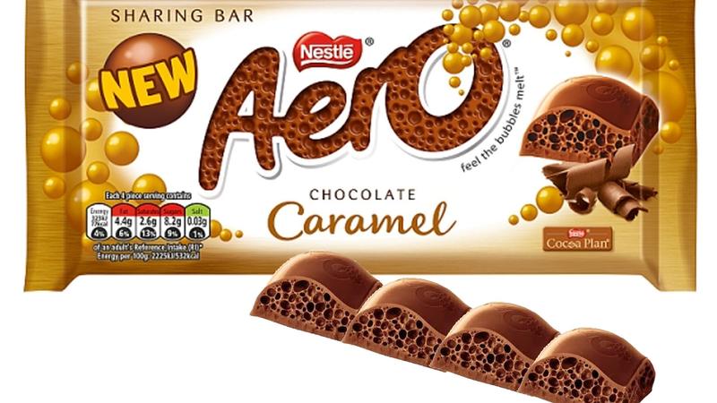 Aero Chocolate Caramel Sharing Size Bar 100g