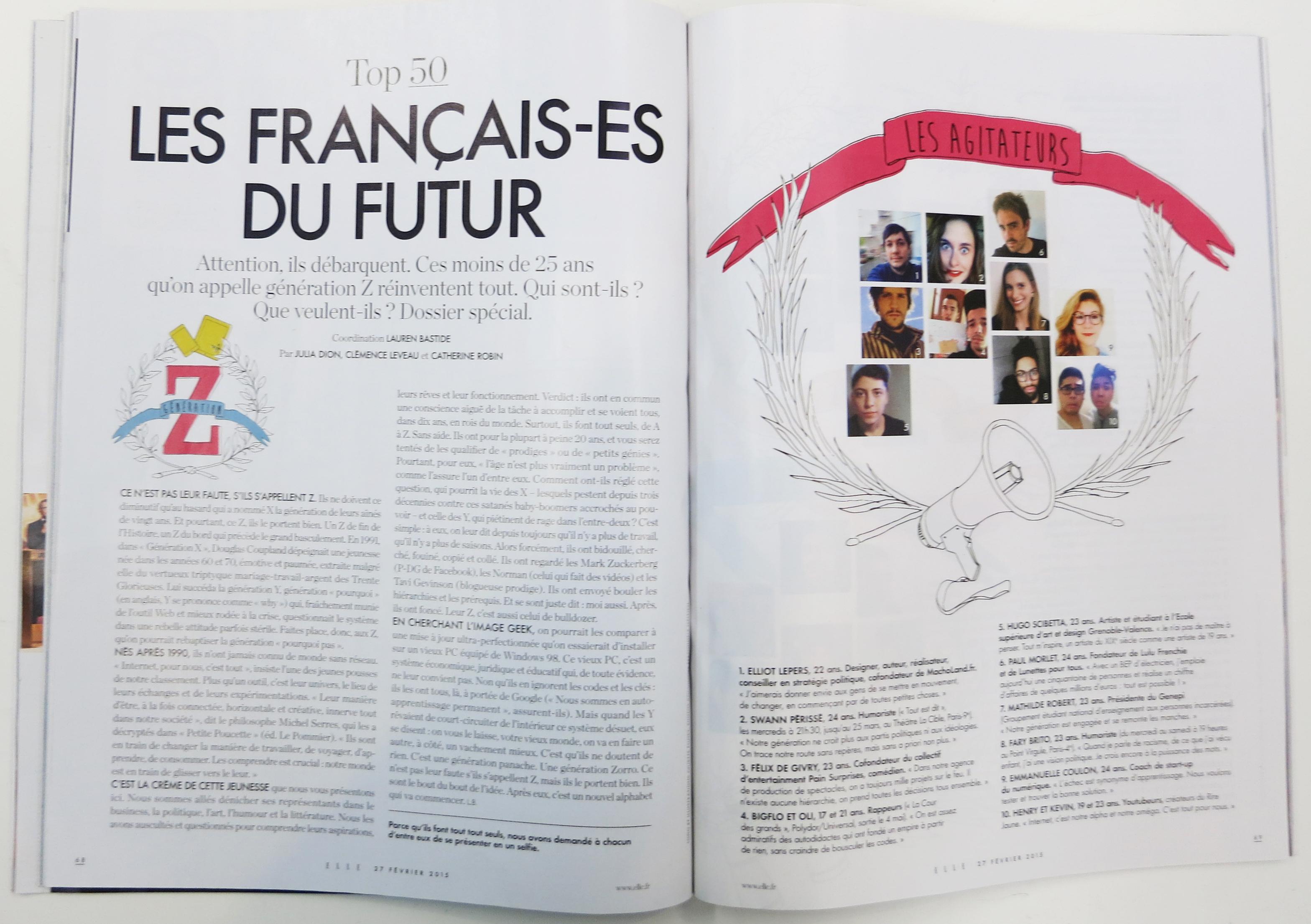 Magazine Elle Génération Z