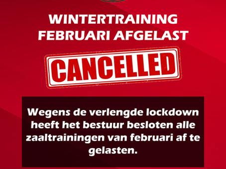 Wintertraining februari afgelast!