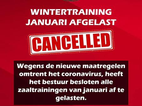 Wintertraining januari afgelast.