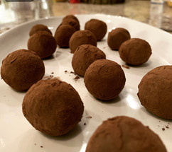 Dark Chocolate Raspberry Pepper Jelly Truffles