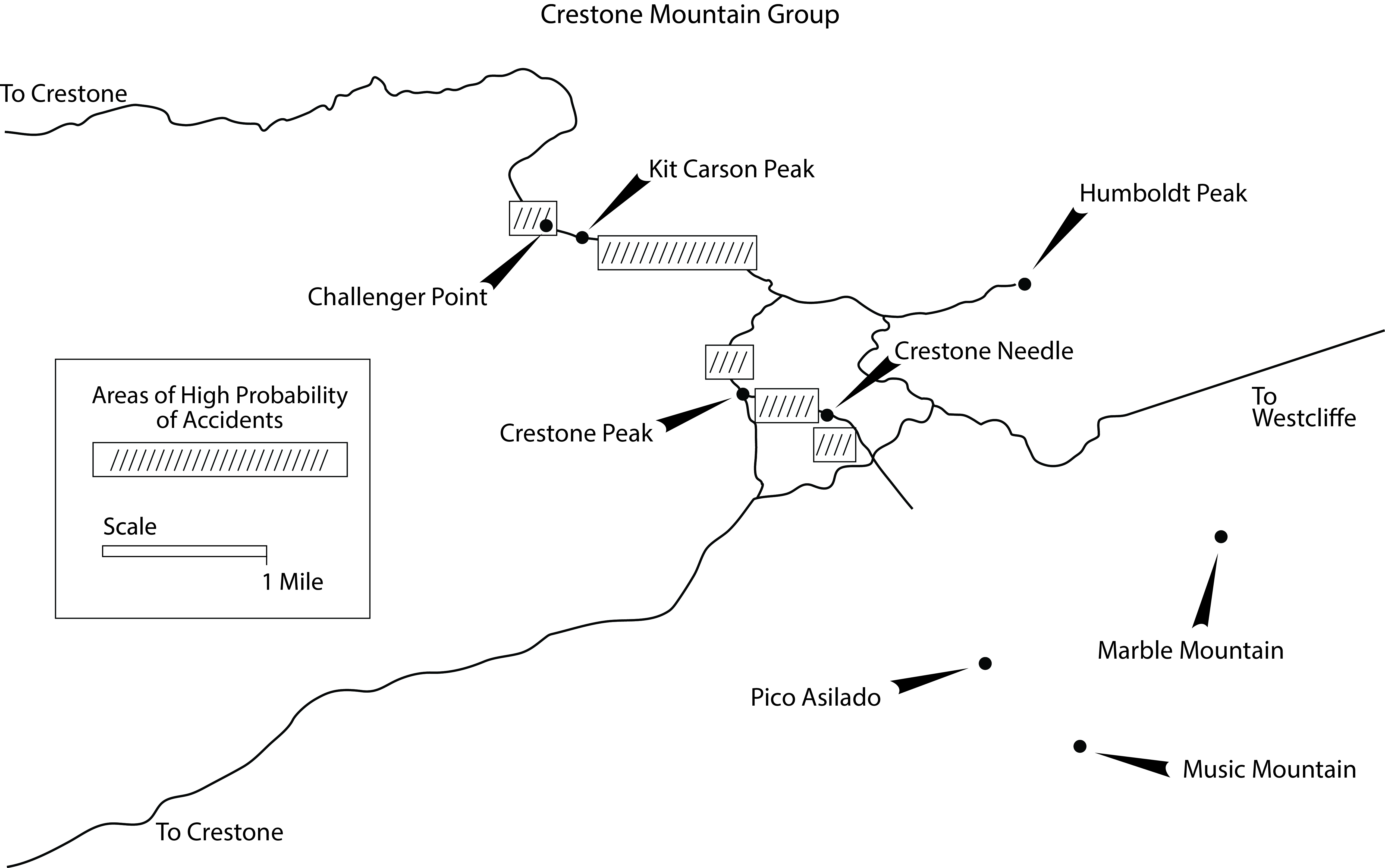 Map of the Crestone Mountain Group