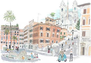 Rome Spanish step, Rome