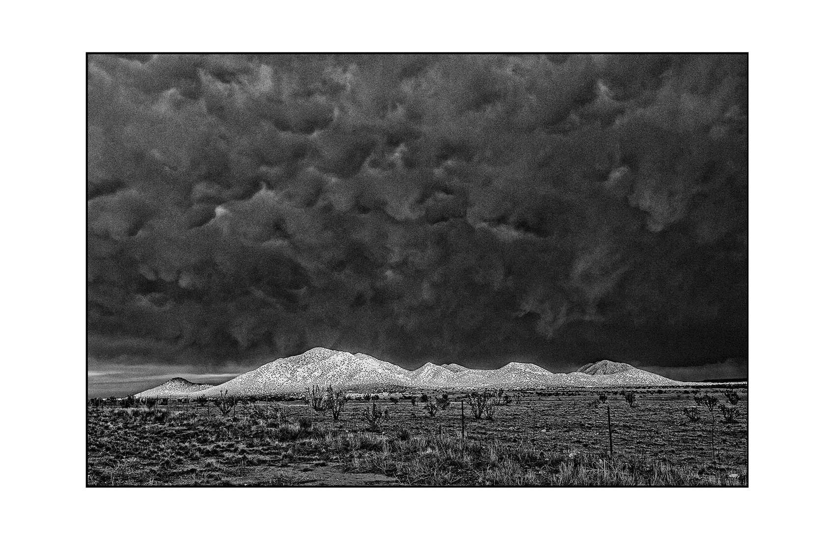 Storm above Los Cerrillos, NM.