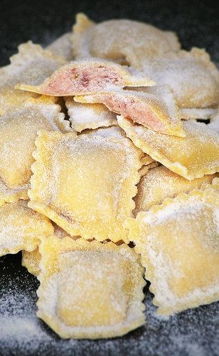 Ravioli frais ricotta, lonza et jambon cru env. 350g