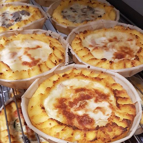 Tartelette de Polenta saveurs variées