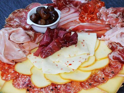 Raclette à l'italienne fromages et charcuteries - 1 portion
