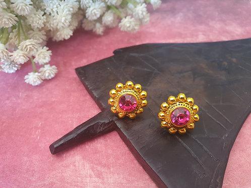 Traditional thushi saaj earrings