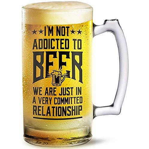I'm Not Addicted beer mug