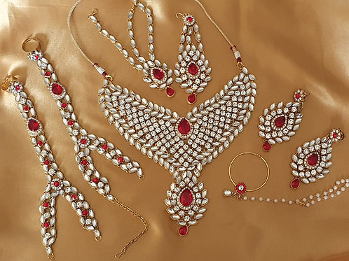 Kundan necklace full set