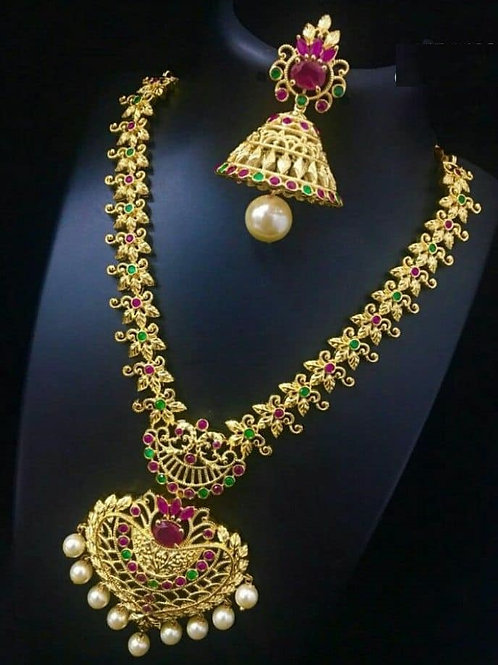Ethnic Necklace with jhumkis