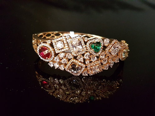 Colourful CZ diamonds bracelet (Openable)