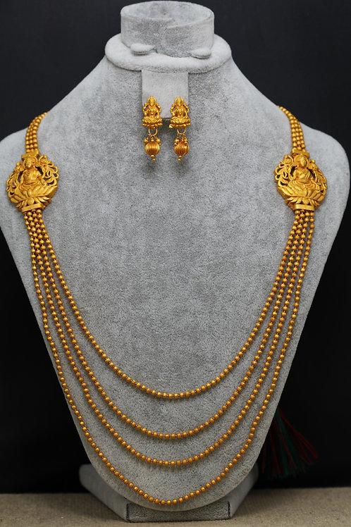 Multistrand God Laxmi necklace