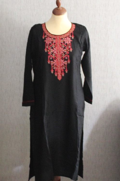 Black with Pink kurti with Black bottom (Size 40)