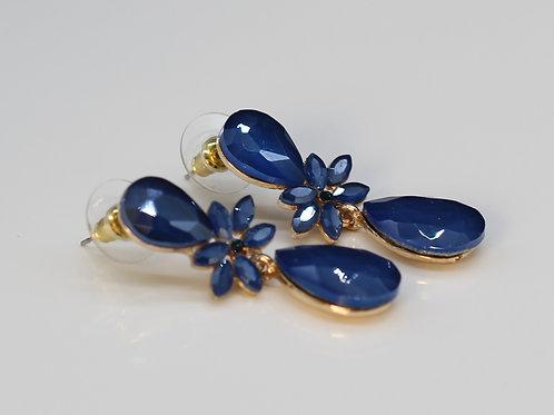 Semi precious crystallized stone earrings