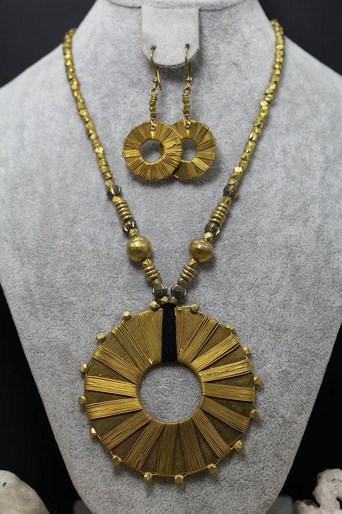 Brass necklace - Woven design (DBC1)