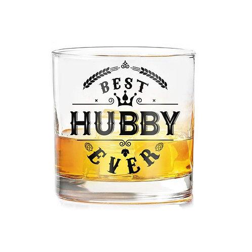 """Best hubby ever"" whiskey glasses (set of 2)"