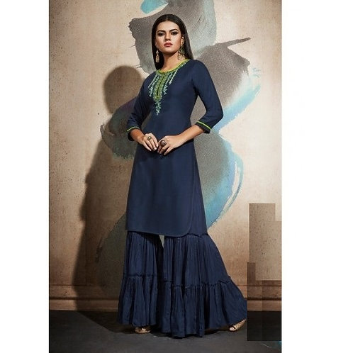 Navy Blue kurti with bottom (Size 40)